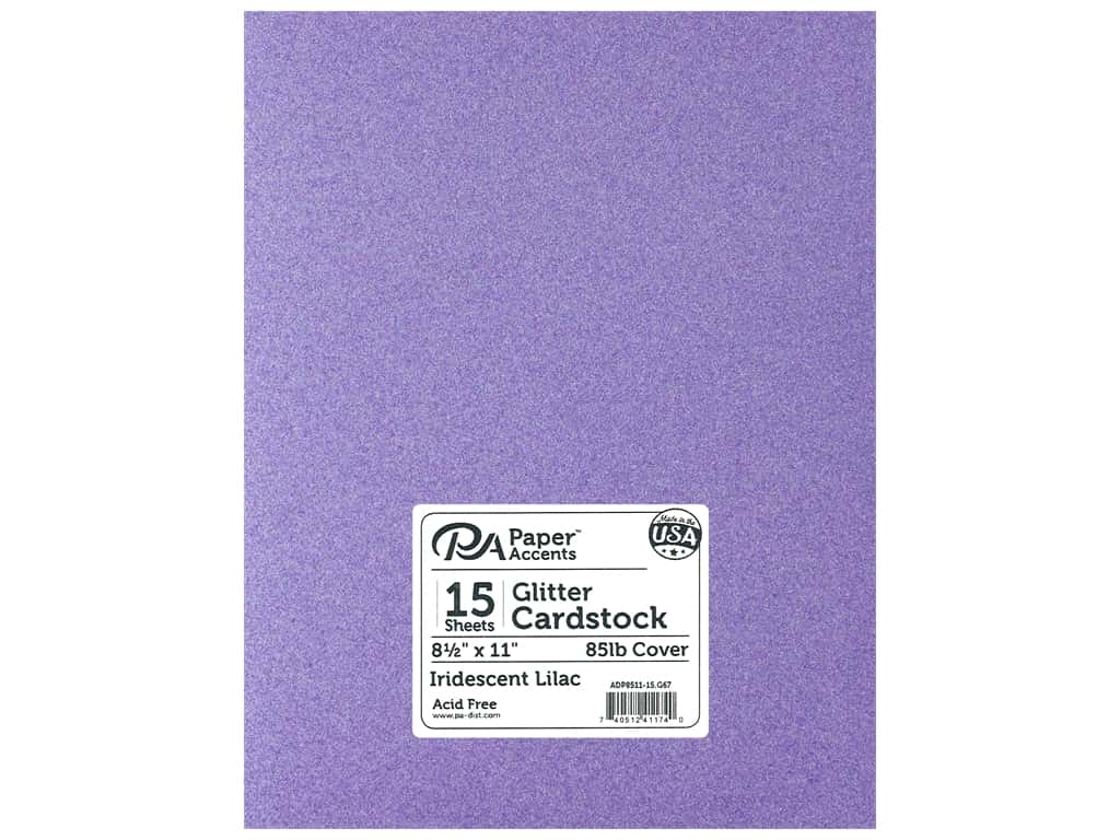 Paper Accents Glitter Cardstock 8 1/2 x 11 in. Iridescent Lilac 15 pc.