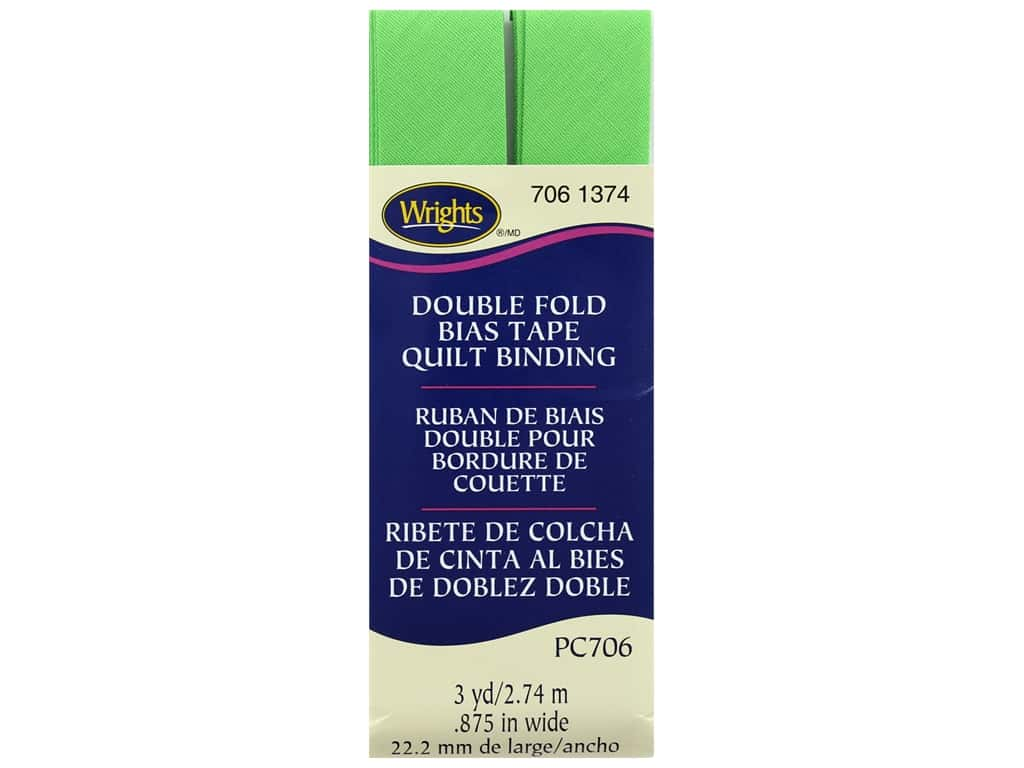 Wrights Double Fold Quilt Binding 3 yd. Green Glow