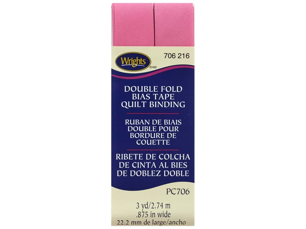 Wrights Double Fold Quilt Binding 3 yd. Candy Pink