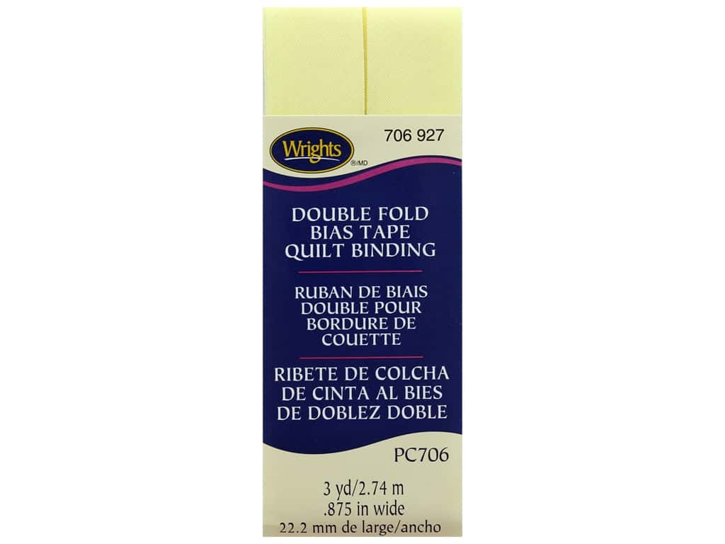 Wrights Double Fold Quilt Binding - Baby Maize 3 yd.
