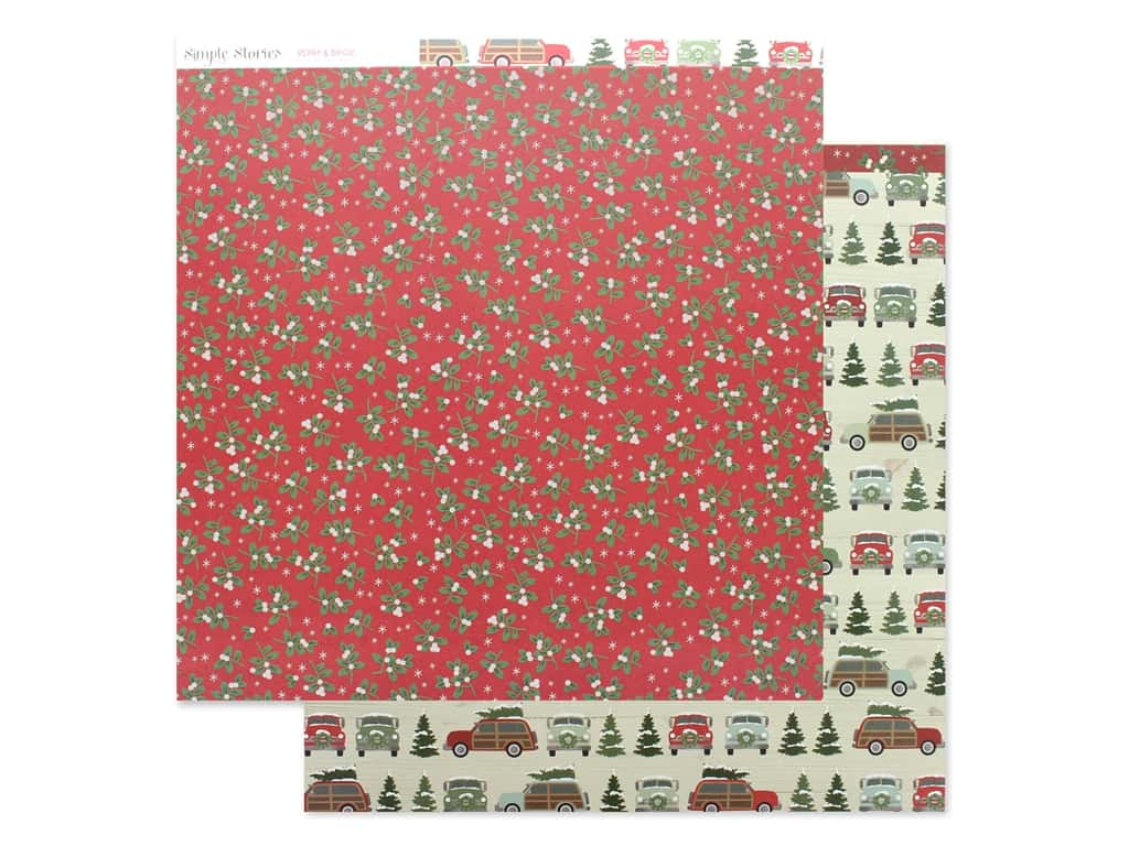 Simple Stories Collection Merry & Bright Paper 12 in. x 12 in. It's A Wonderful Life (25 pieces)