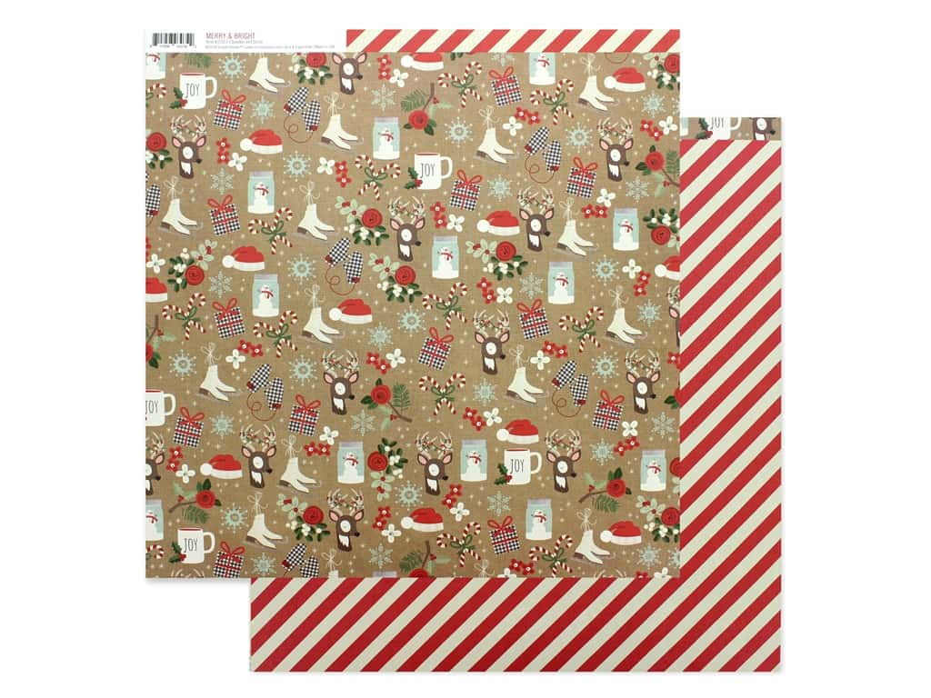 Simple Stories Collection Merry & Bright Paper 12 in. x 12 in. Sparkle & Shine (25 pieces)