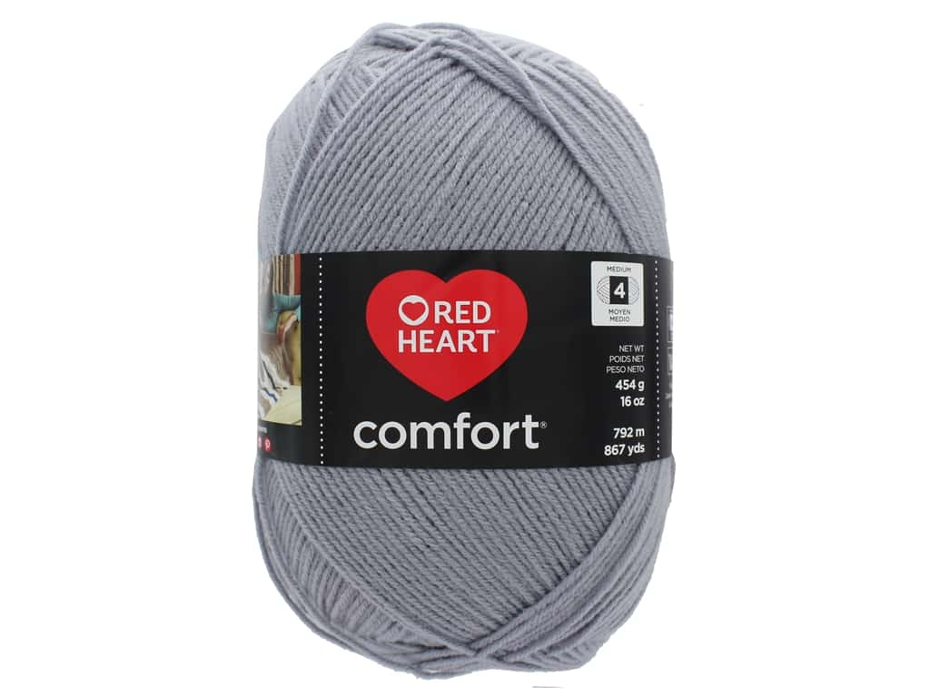 Red Heart Comfort Yarn 867 yd. #3150 Grey