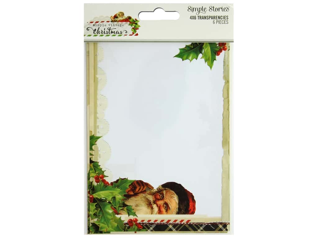 Simple Stories Collection Vintage Christmas Transparencies 4 in. x 6 in.