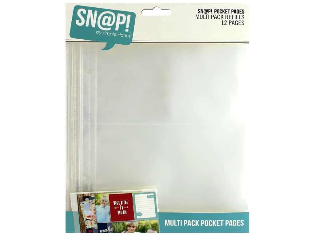 Simple Stories Page Protector Snap Pocket Multi 6 in. x 8 in.