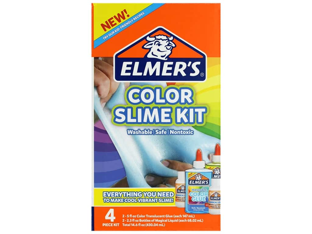 Elmer's Color Slime Kit Translucent Blue & Green