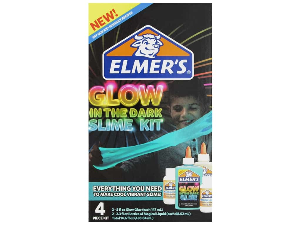 Elmer's Slime Kit Glow Natural & Blue