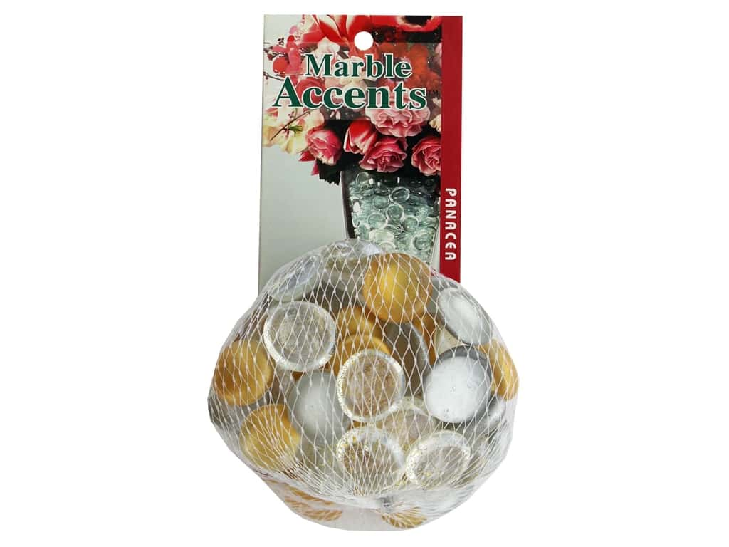 Panacea Decorative Accents Glass Gems Silver/Gold 12oz