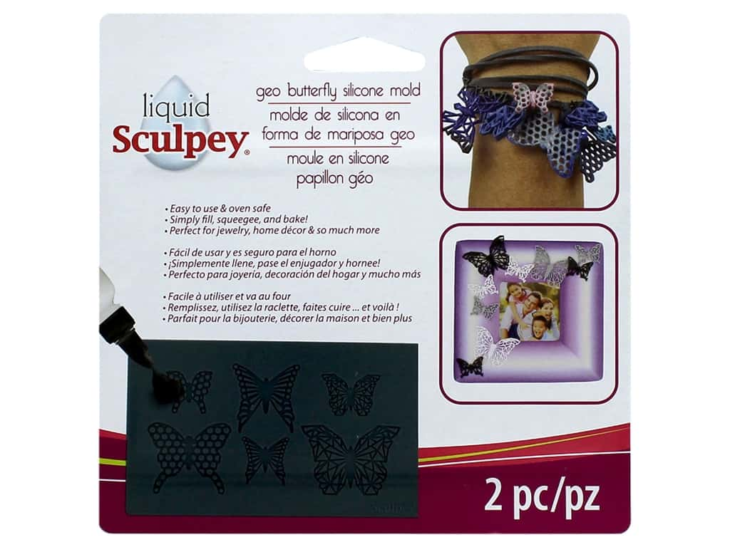 Sculpey Mold Bakeable Silicone Geo Butterfly