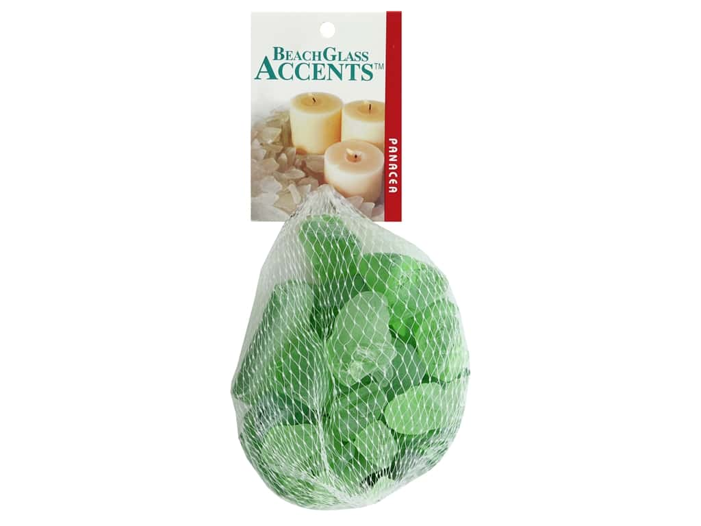Panacea Decorative Accents Glass Beach Light Green 16 oz
