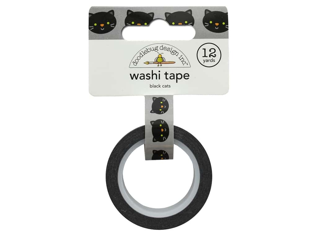 Doodlebug Collection Pumpkin Party Washi Tape Black Cats
