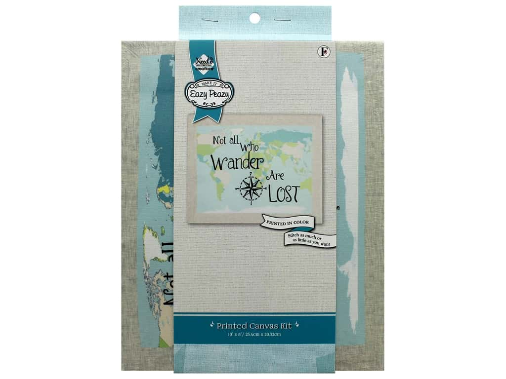 "Needle Creations Kit Embroidery Canvas 10""x 8"" Wander"
