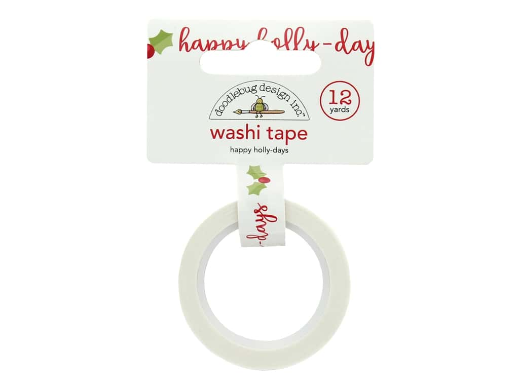 Doodlebug Collection Christmas Town Washi Tape Happy Holly Days
