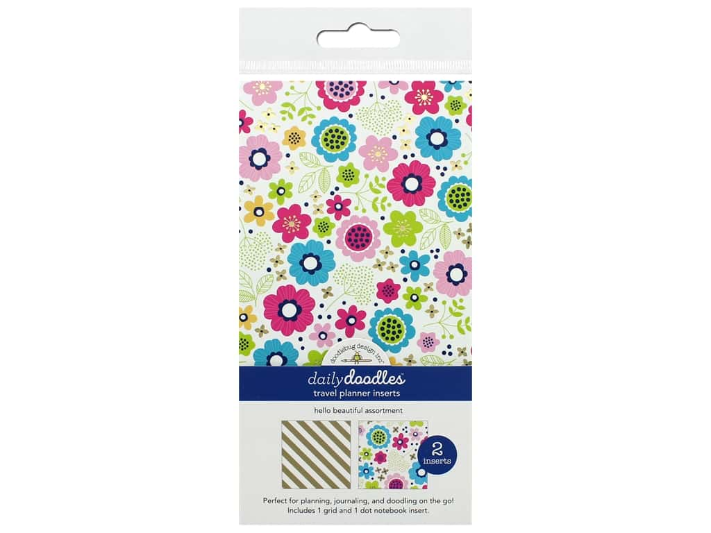 Doodlebug Collection Hello Travel Planner Inserts Assortment