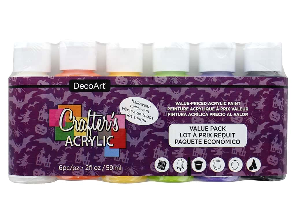 DecoArt Crafter's Acrylic Paint - Value Pack - Halloween 6 pc.