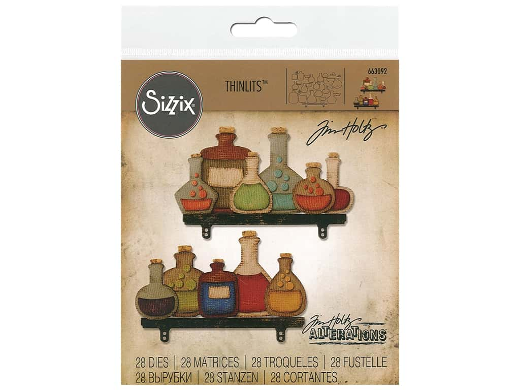 Sizzix Tim Holtz Thinlits Die Set 28 pc. Laboratory
