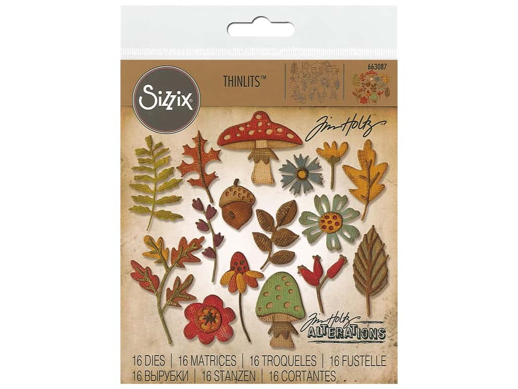 Sizzix Tim Holtz Thinlits Die Set 20 pc. Funky Foliage
