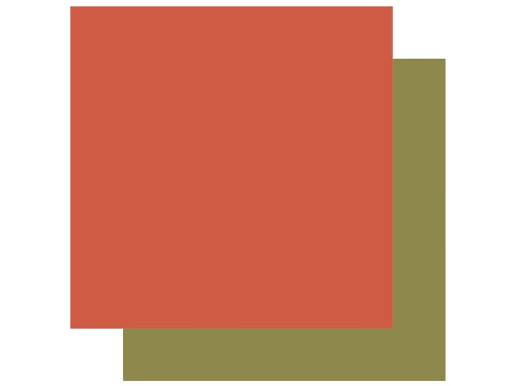 Echo Park Collection Coffee Paper 12 in. x 12 in. Coral/Green (25 pieces)