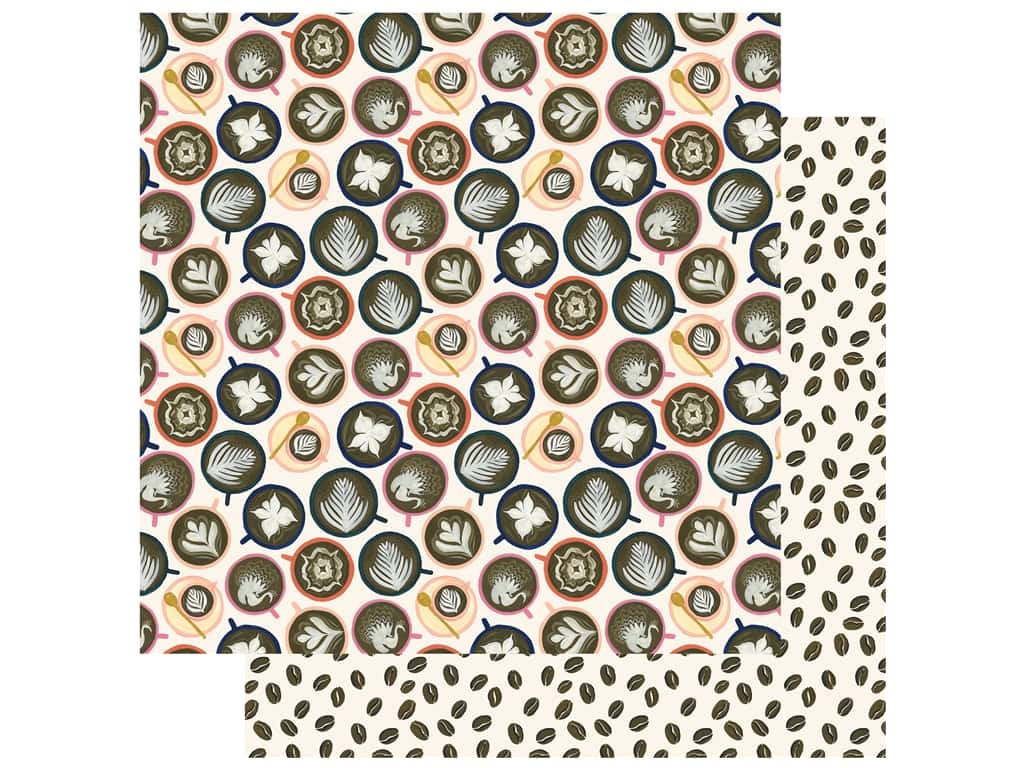 Echo Park Collection Coffee Paper 12 in. x 12 in. Cappuccino Cups (25 pieces)
