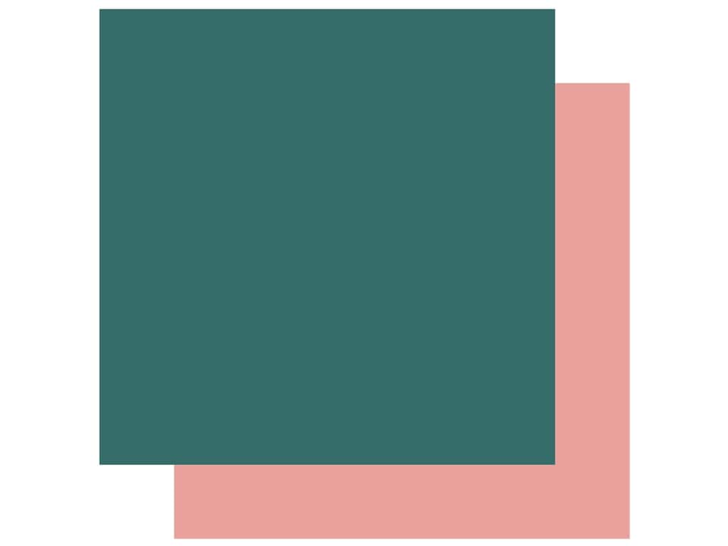 Echo Park Collection Coffee Paper 12 in. x 12 in. Dark Teal/Pink (25 pieces)