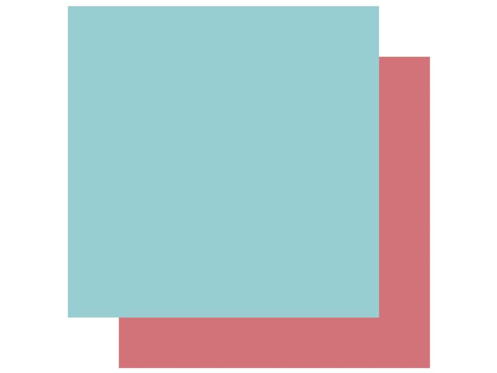 Echo Park Collection Coffee Paper 12 in. x 12 in. Light Blue/Dark Pink (25 pieces)