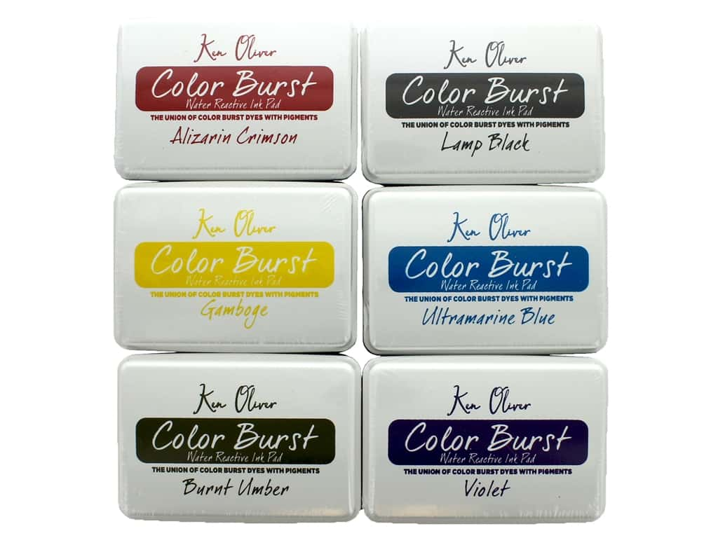 Contact Crafts Ken Oliver Color Burst Ink Pad Set #2