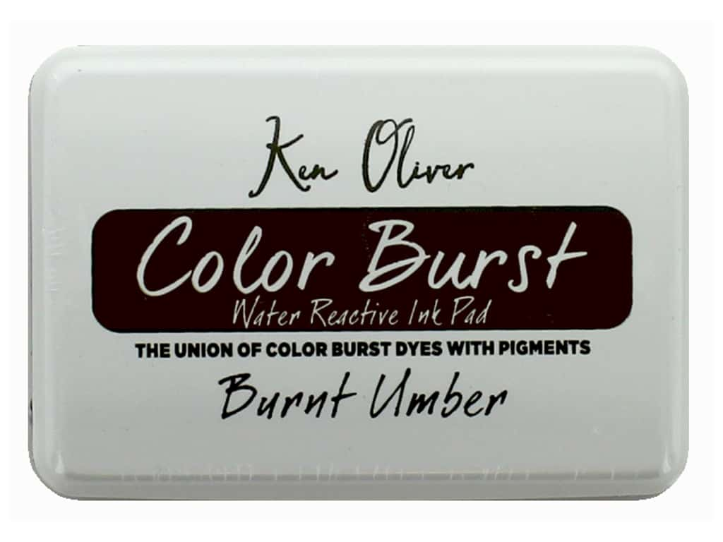 Contact Crafts Ken Oliver Color Burst Ink Pad Burnt Umber