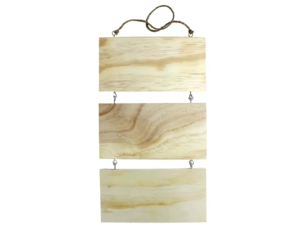 Sierra Pacific Crafts Wood Wall Art 3 Tiered 10 in. x 17 in.