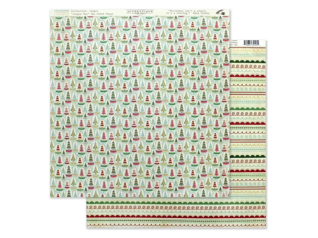 Authentique Collection Jingle Paper 12 in. x 12 in. Two (25 pieces)
