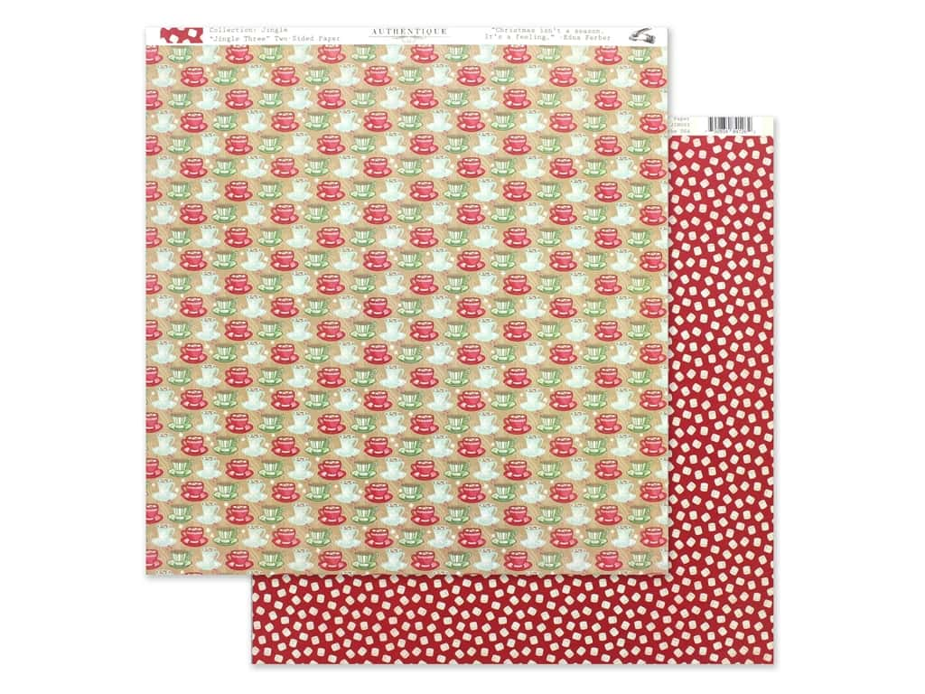 Authentique Collection Jingle Paper 12 in. x 12 in. Three (25 pieces)
