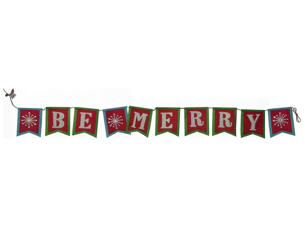 Sierra Pacific Crafts Felt Banner 76 in. x 6.5 in. Be Merry