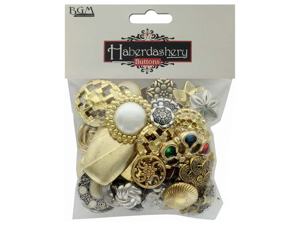 Buttons Galore Haberdashery Buttons Classic Gold/Silver