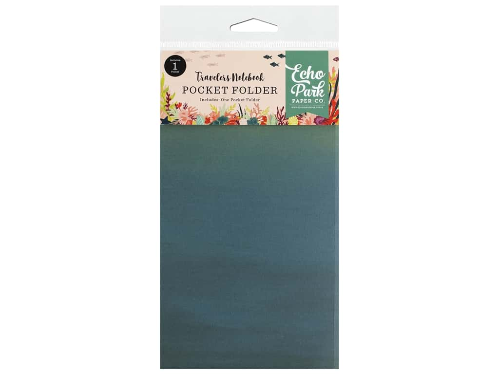 Echo Park Collection Mermaid Tales Travelers Notebook Insert Pocket