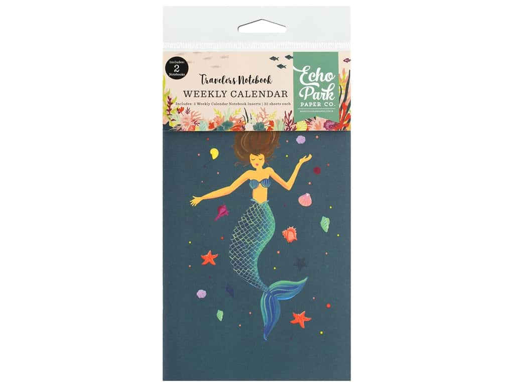 Echo Park Collection Mermaid Tales Travelers Notebook Insert Calendar