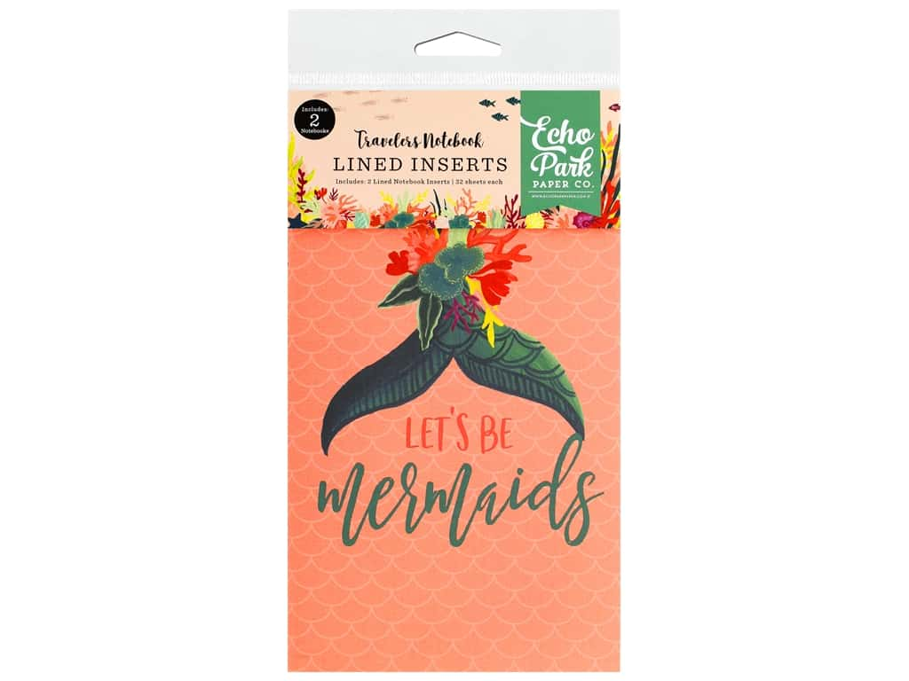 Echo Park Collection Mermaid Tales Travelers Notebook Insert Lined