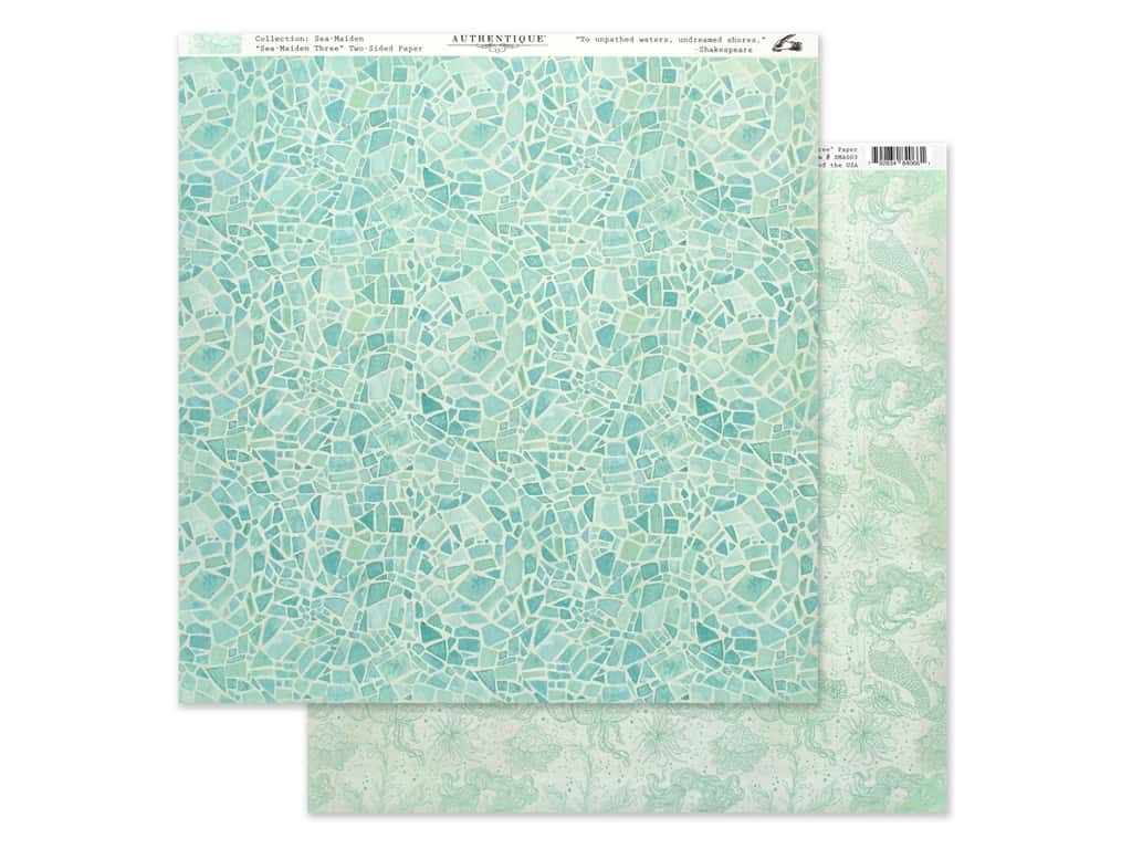 Authentique Collection Sea Maiden Paper 12 in. x 12 in. Three (25 pieces)