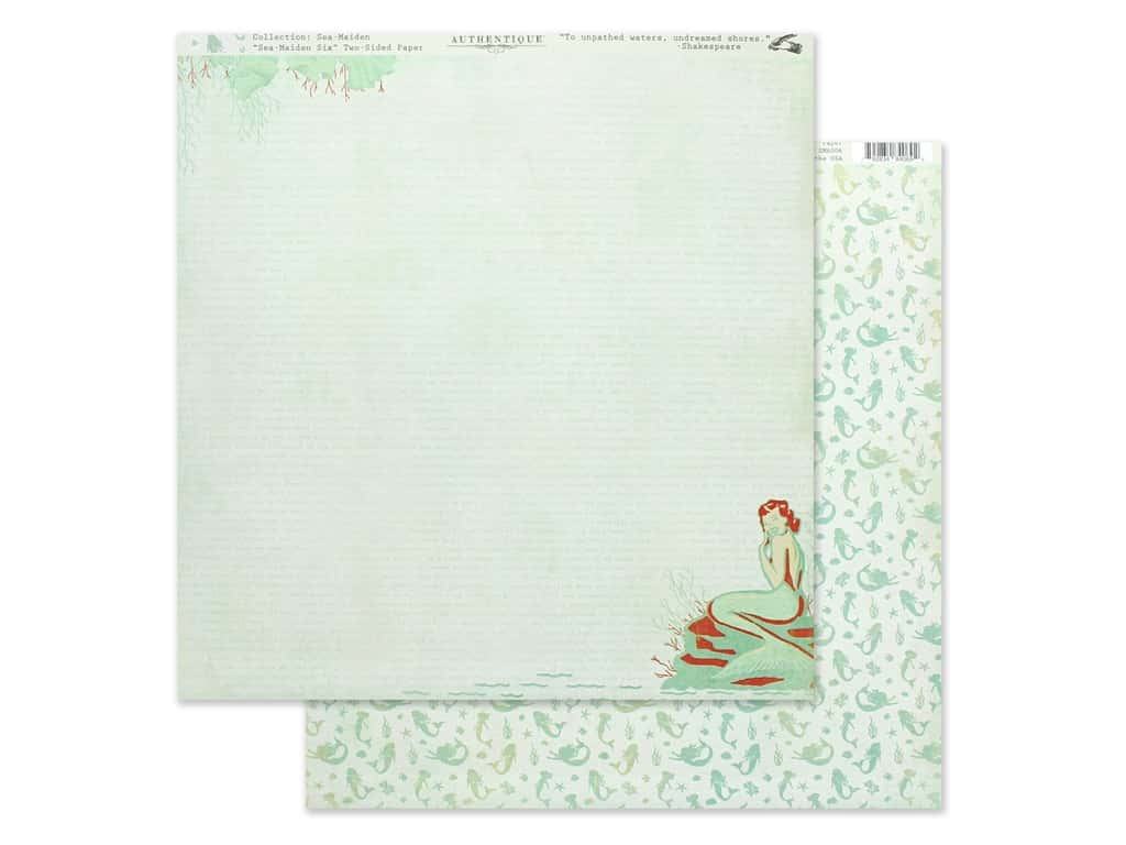 Authentique Collection Sea Maiden Paper 12 in. x 12 in. Six (25 pieces)
