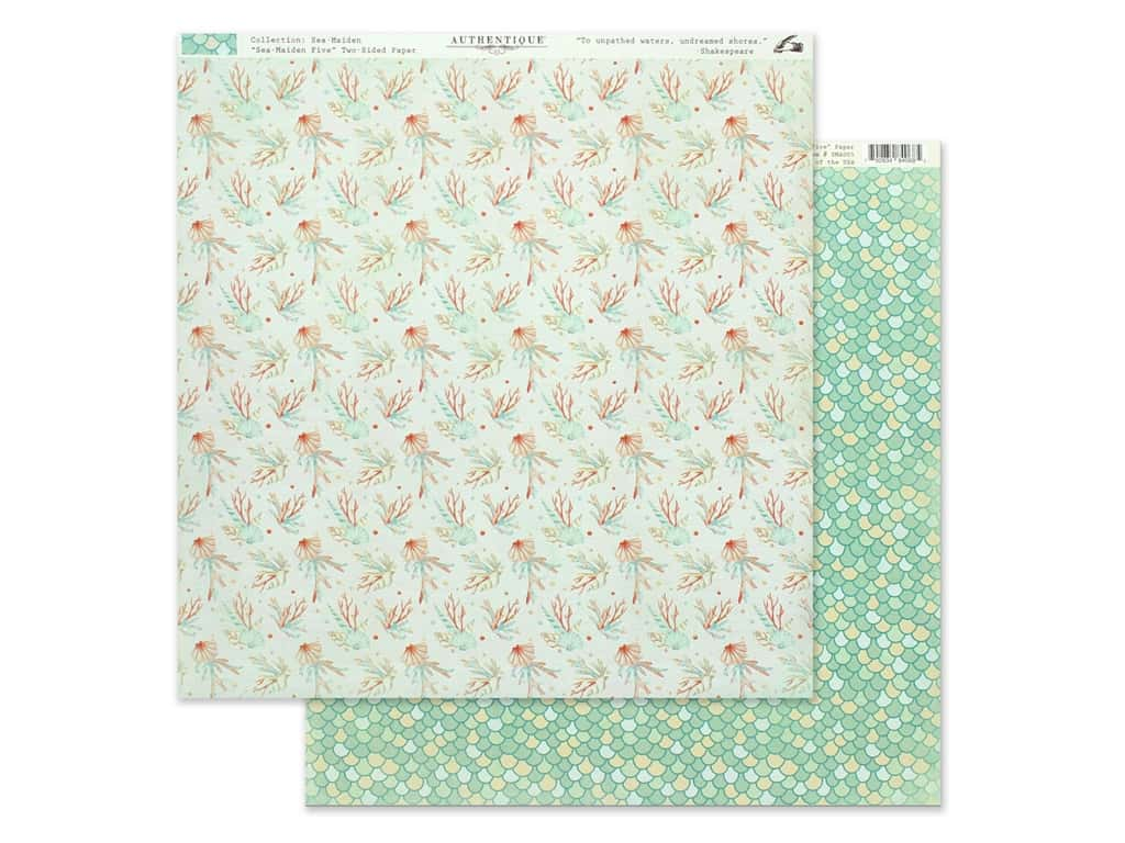 Authentique Collection Sea Maiden Paper 12 in. x 12 in. Five (25 pieces)