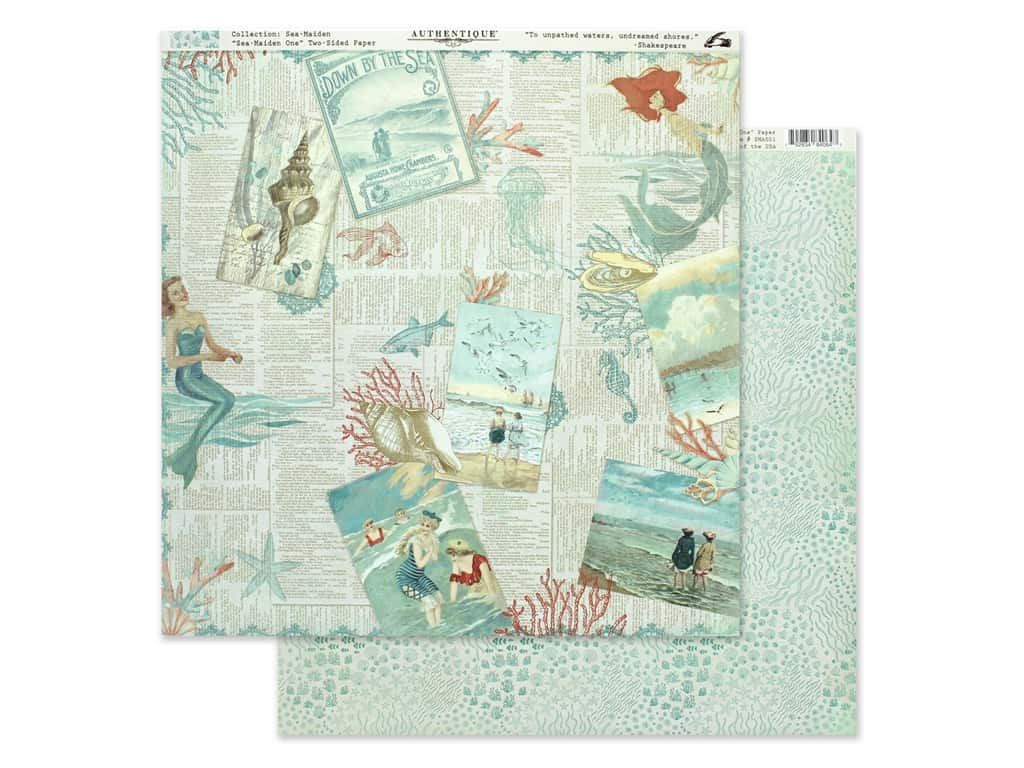 Authentique Collection Sea Maiden Paper 12 in. x 12 in. One (25 pieces)