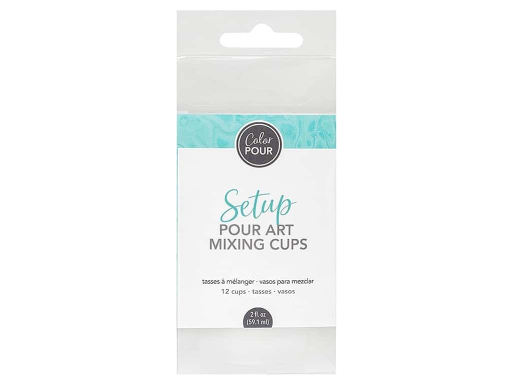 American Crafts Color Pour Mixing Cups 12 pc