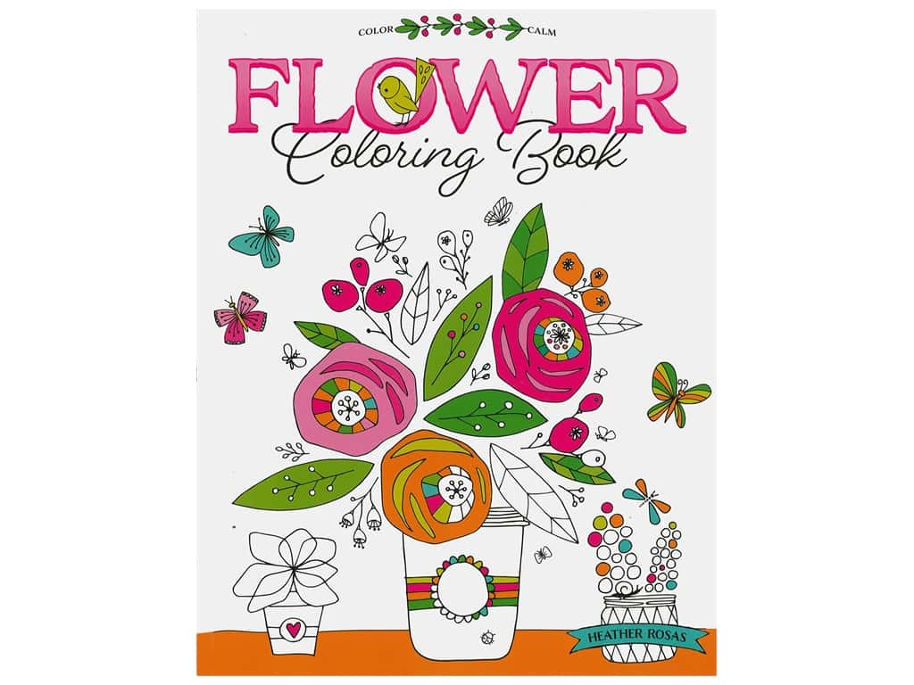 Leisure Arts Flower Coloring Book