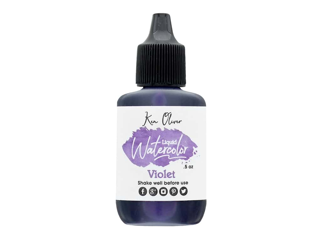 Contact Crafts Ken Oliver Liquid Watercolor .5 oz Violet