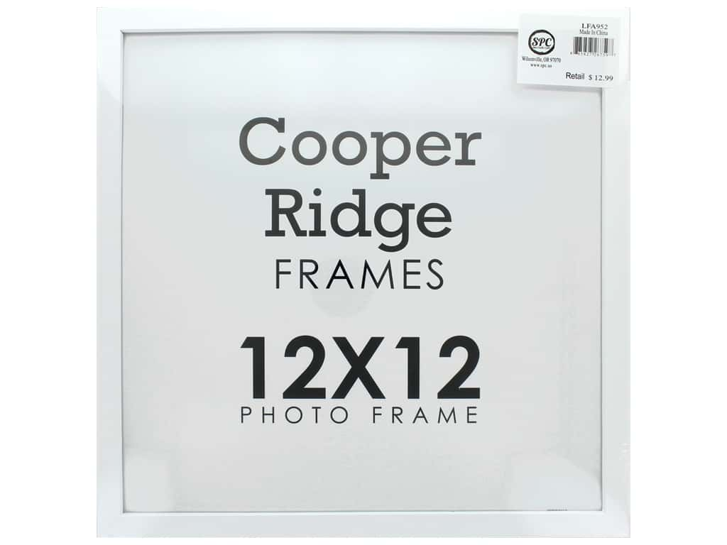 Sierra Pacific Crafts 12 x 12 in. Wood Frame with Easel White