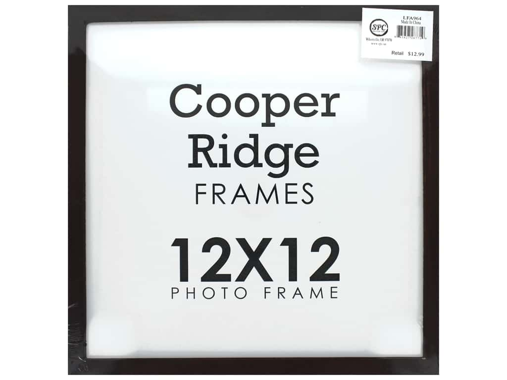 Sierra Pacific Crafts Frame Wood 12 in. x 12 in. With Easel Walnut