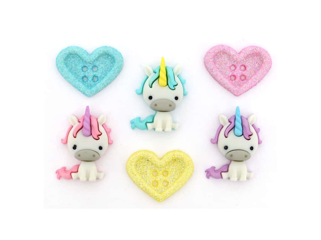 Jesse James Embellishments Unicorn Love