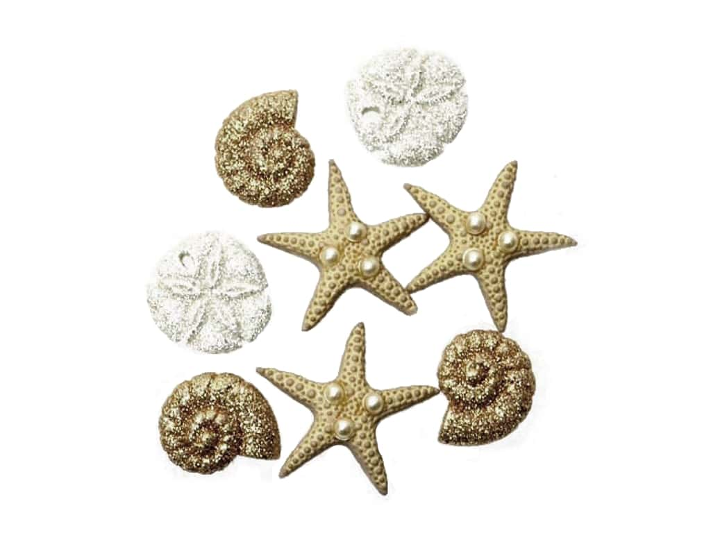 Jesse James Embellishments Glitter Beach