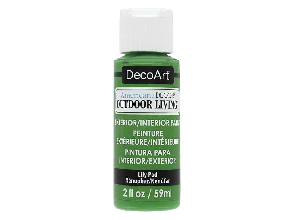 DecoArt Americana Decor Outdoor Living Exterior/Interior Paint 2 oz. Lily Pad