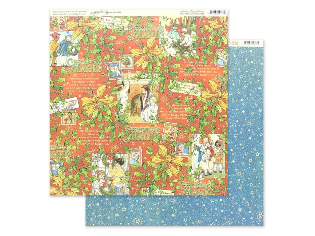 Graphic 45 Collection Christmas Magic Paper 12 in. x 12 in. Merry Memories (25 pieces)