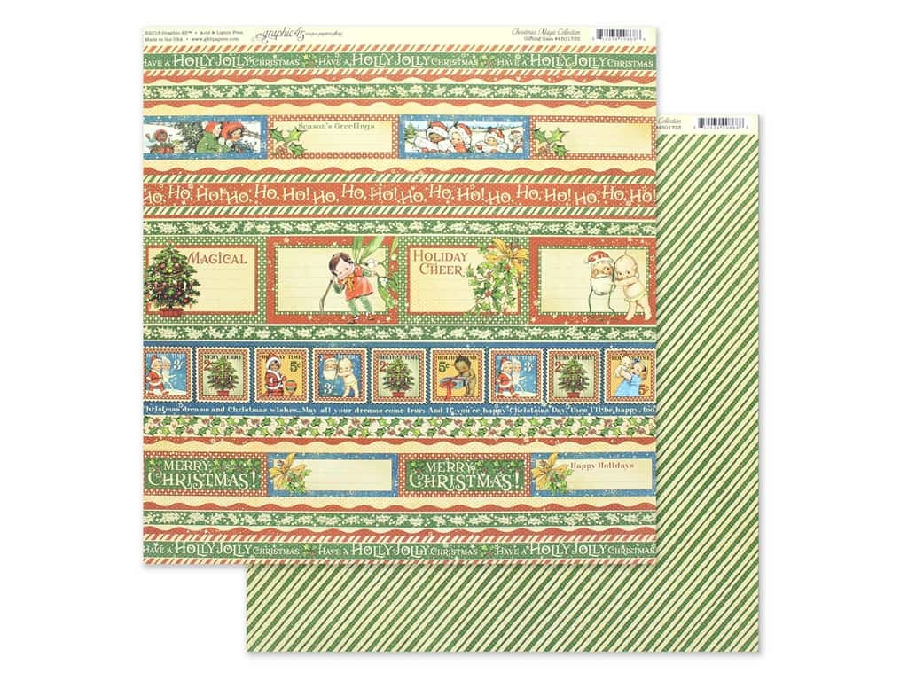 Graphic 45 Collection Christmas Magic Paper 12 in. x 12 in. Gifting Gala (25 pieces)