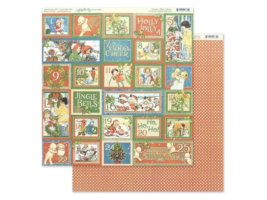 Graphic 45 Collection Christmas Magic Paper 12 in. x 12 in. Countdown Surprise (25 pieces)